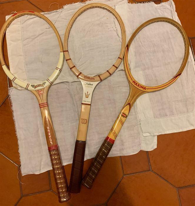 vendita racchette tennis anni 60-70 solo telaio